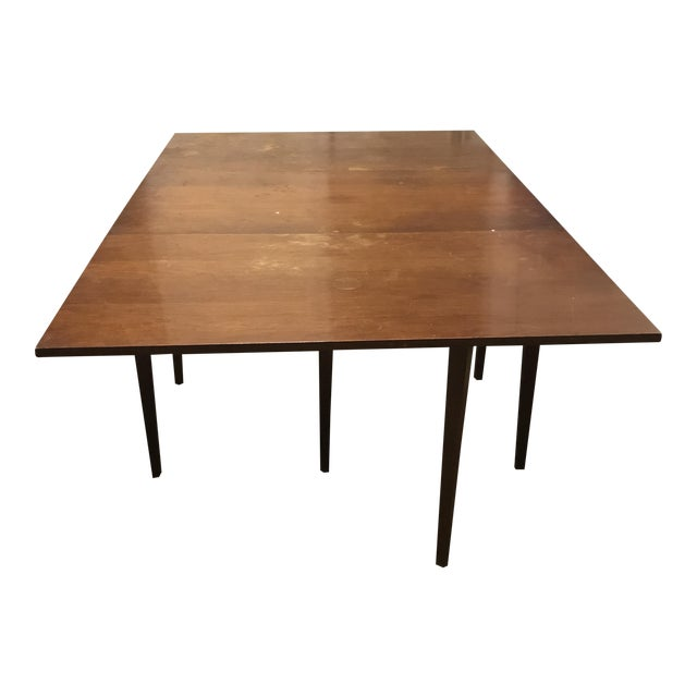 Wooden Farmhouse Table with Leaves - Image 1 of 5