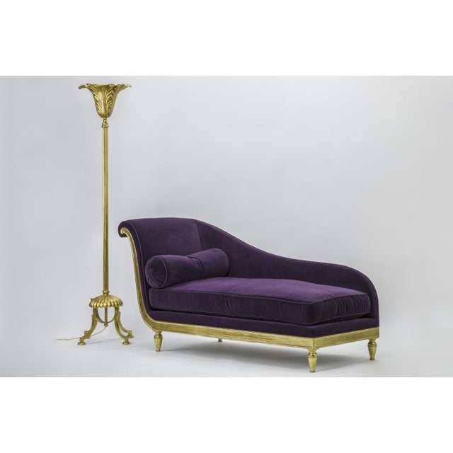 Gold lead art deco daybed.