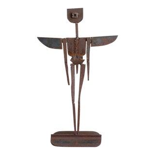 Brutalist Metal Sculpture Winged Angel Ralph Matthews 1990s For Sale