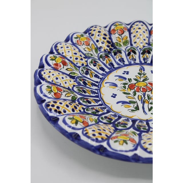 Ceramic French Country Ceramic Large Plate For Sale - Image 7 of 12
