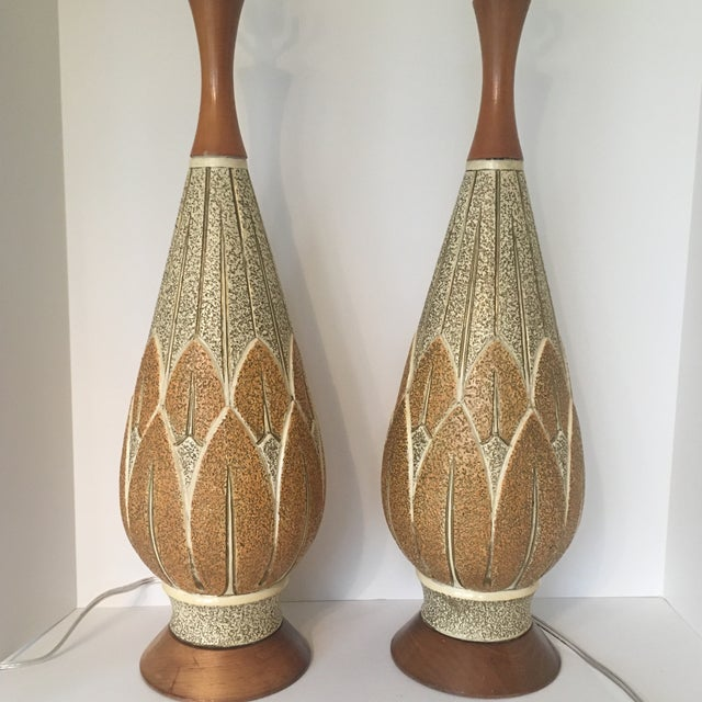 Mid-Century Modern Mid-Century Modern f.a.i.p. Table Lamps - a Pair For Sale - Image 3 of 9