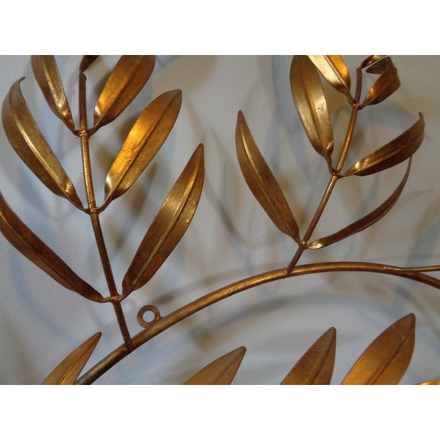 Gilded Italian Frond Wall Sculpture - Image 5 of 5