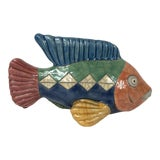 Image of Vintage Handmade Pottery Fish Sculpture For Sale