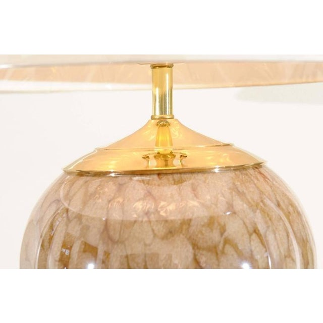 Extraordinary Pair of Eastern European Blown Glass Vessels as Custom Lamps For Sale - Image 4 of 11