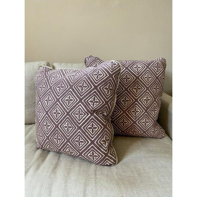 Quadrille China Seas Designer Made Fiorentina Throw Pillows - a Pair For Sale - Image 13 of 13