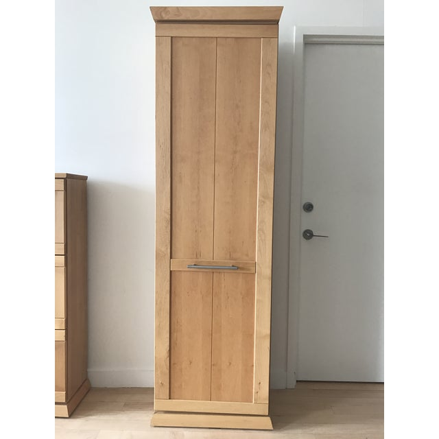 Tall Alder Wood Entryway Armoire - Image 2 of 11