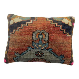 Vintage Boho-Chic Turkish Lumbar Pillow For Sale