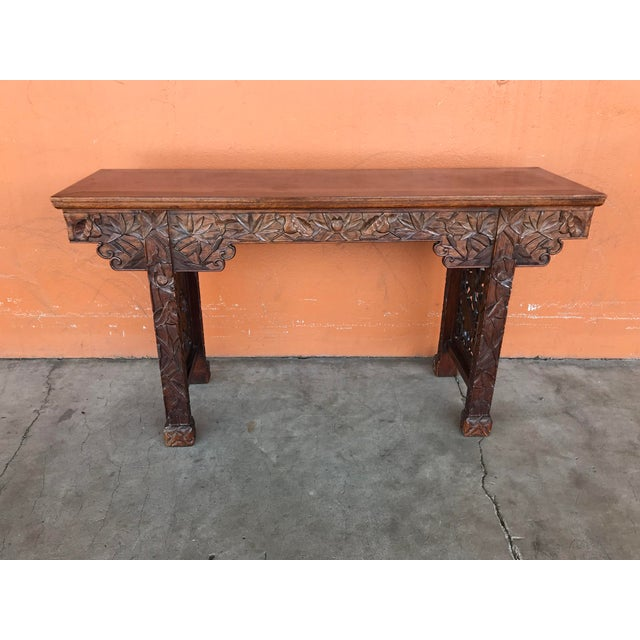 Chinese Carved Altar Table For Sale - Image 10 of 10