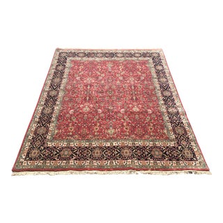 Kashan Style Handknotted Area Rug-8x10 For Sale