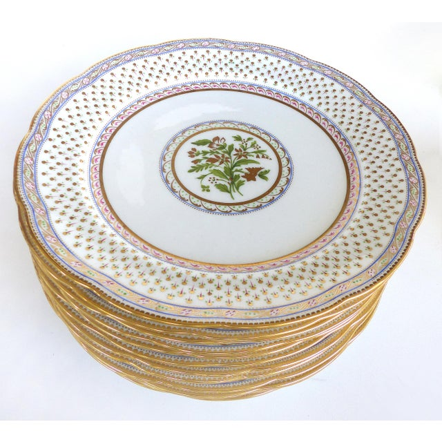 Offered for sale is a fine quality porcelain luncheon/dessert service by Cauldon England for Tomas Goode and company,...