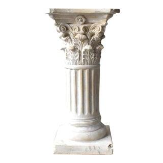 Neoclassical Corinthian Garden Column Pedestal For Sale