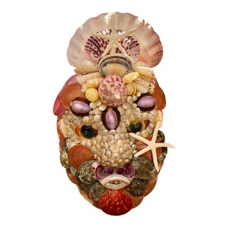 Contemporary Decorative Seashell Mask For Sale