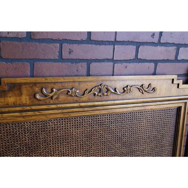 Mid 20th Century 20th Century French Regency Cane King/Cal King Headboard For Sale - Image 5 of 8