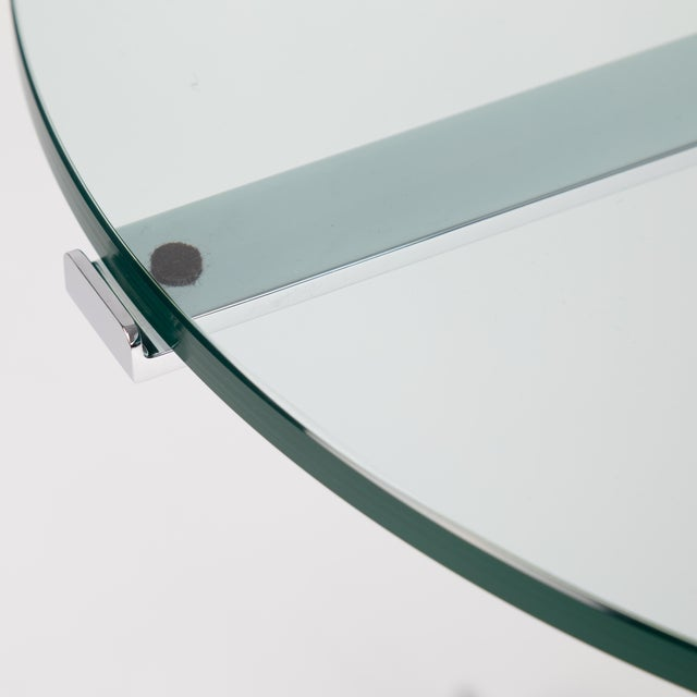 "Metal 1970s Hans Eichenberger ""Alpha"" Side Tables in Chrome and Glass - a Pair For Sale - Image 7 of 12"