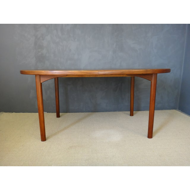 Dux Danish Modern Oval Teak Dining Table - Image 4 of 7