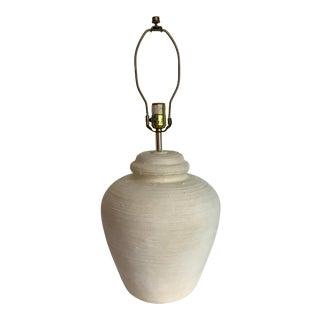 Vintage Plaster Lamp Made in 1975 For Sale