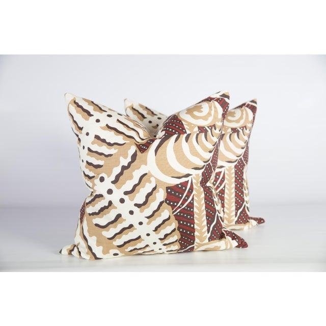 Custom Rust Ferns Uni Pillows - a Pair - Image 5 of 5