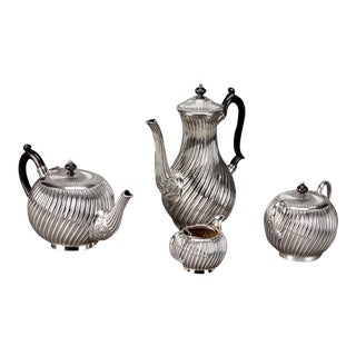 Art Deco English Silver Plate Coffee & Tea Service - 4 Pieces For Sale