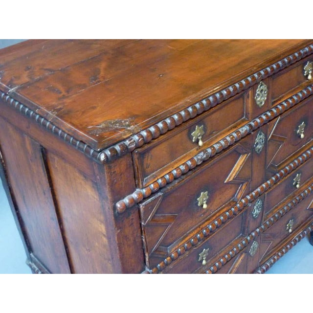 Wood 17th Century English Chest of Drawers For Sale - Image 7 of 8
