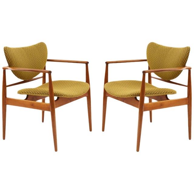 Pair of Finn Juhl 48 Armchairs For Sale