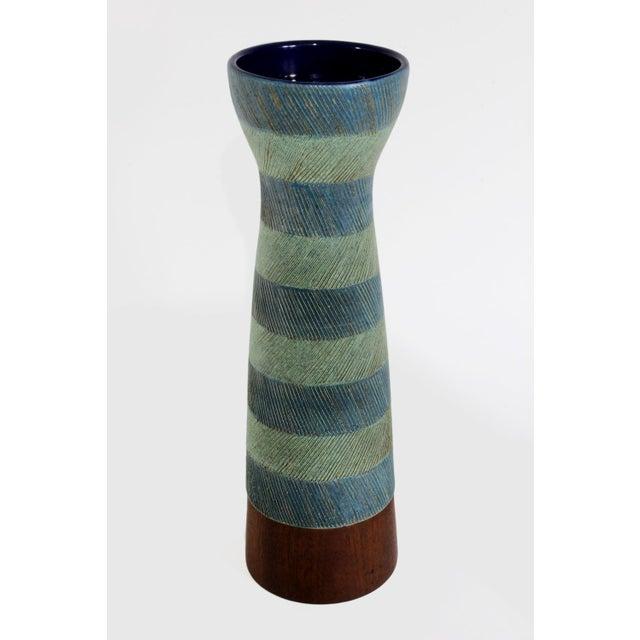 Bitossi for Raymor Walnut Base Vase - Image 4 of 6