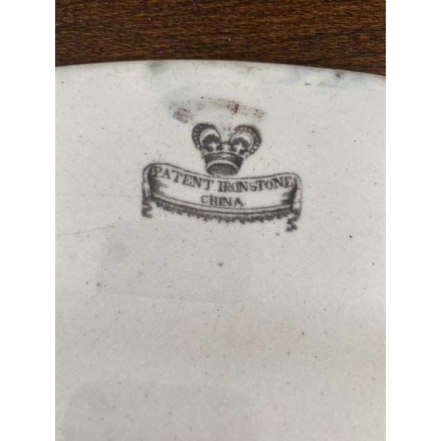 Mid 19th Century Mid 19th Century Large Mason's Patent Ironstone Chinoiserie Well and Tree Platter For Sale - Image 5 of 11