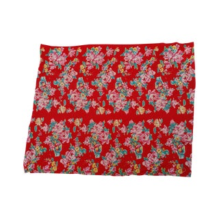 50's Deco Floral Throw
