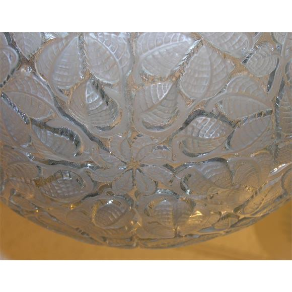 1930s French Art Deco Chandelier by Rene Lalique For Sale - Image 5 of 7