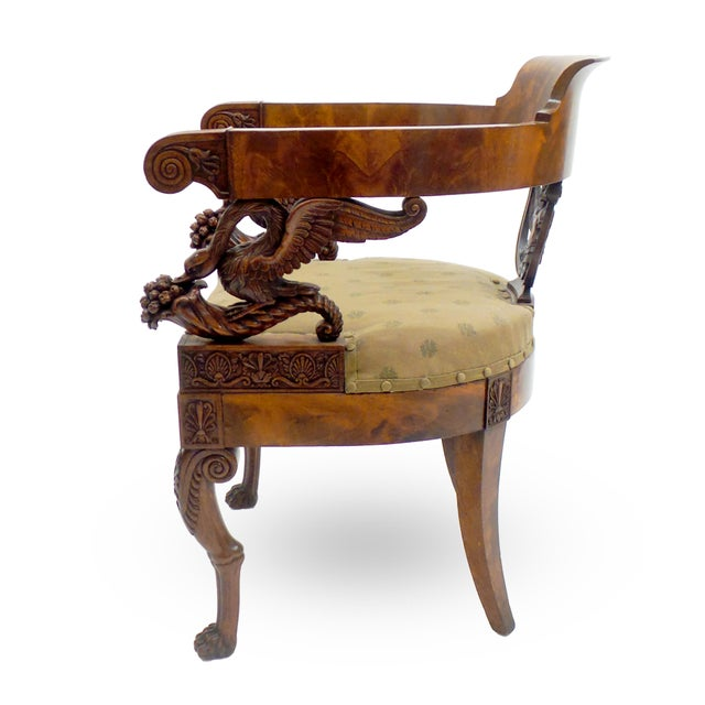 Italian Exceptional Early 19th Century Neopolitan Armchair For Sale - Image 3 of 7