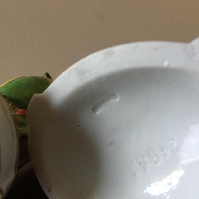 Ceramic Vintage German Porcelain Parrot Candle Holders- a Pair For Sale - Image 7 of 8