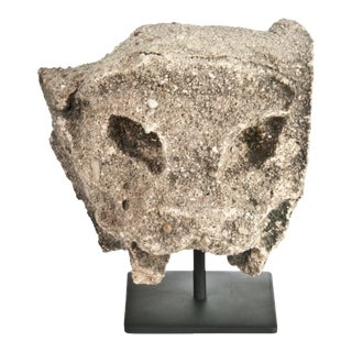 LaRonda Limestone Architectural Fragment On Stand
