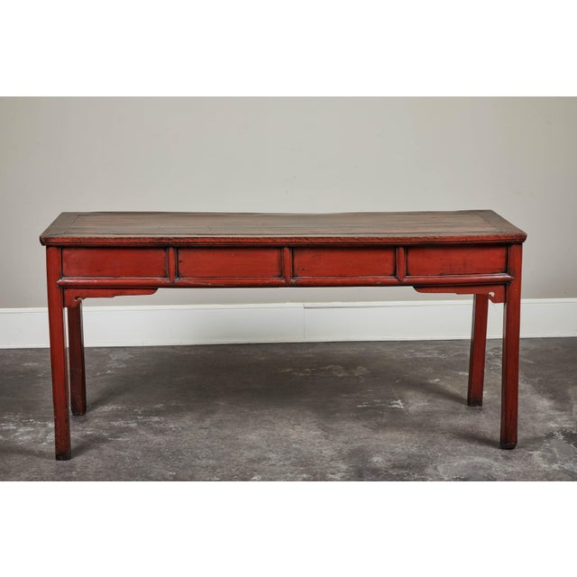 19th C. Cinnabar Lacquer Console For Sale - Image 4 of 9