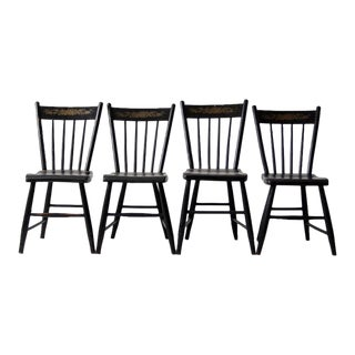 Antique Hitchcock Style Chairs Set of 4 For Sale