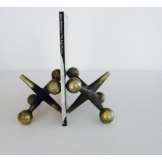 Cast Iron Jacks Bookends Bill Curry Mid Century - Image 7 of 11