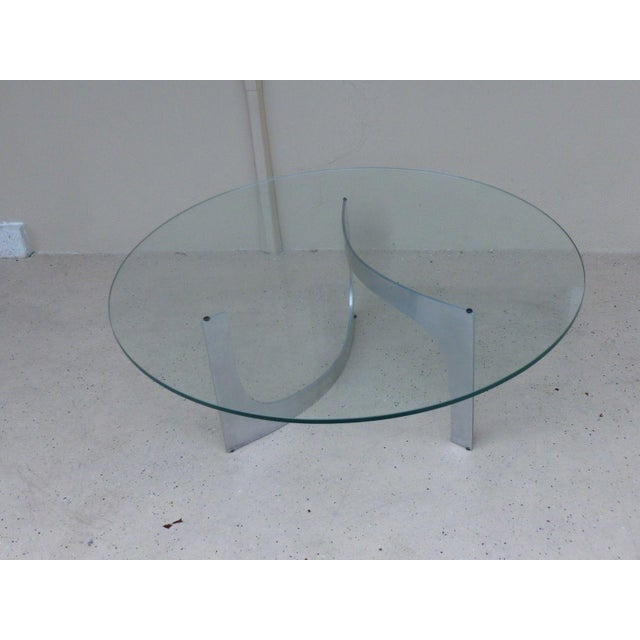 Mid-century Modern aluminum sculptural table by Knut Westerberg by Bacher Tische circa 1971 sold as found in good...