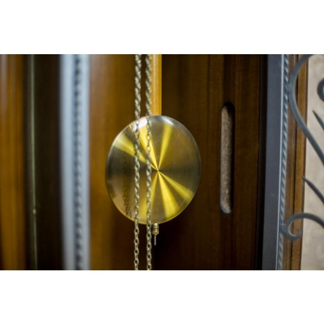 20th Century Tempus Fugit Grandfather Clock with a Chime For Sale - Image 4 of 13