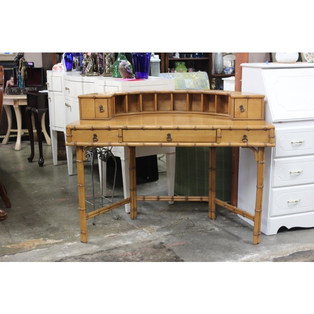 Modern Ficks Reed Writing Desk & Chair - a Pair For Sale - Image 3 of 11
