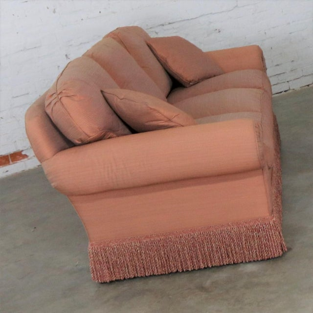 Baker Sofa Lawson Style From the Crown and Tulip Collection Terracotta For Sale - Image 6 of 13
