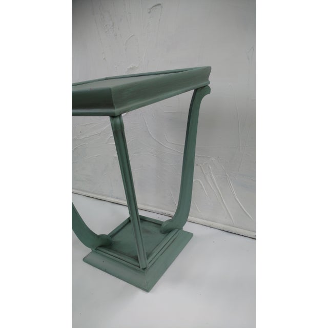 Blue Glazed Side Table - Image 4 of 6