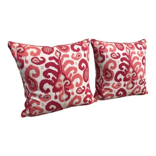 Contemporary Ryan Studio Pink Pillows - a Pair For Sale