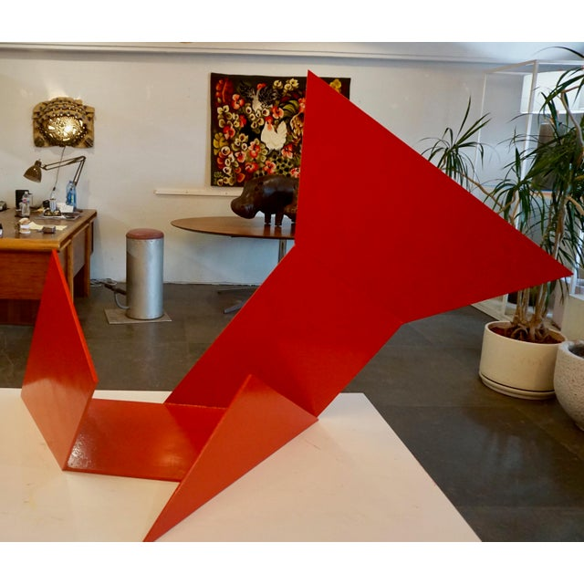 Betty Gold Abstract Steel Sculpture by Betty Gold For Sale - Image 4 of 7