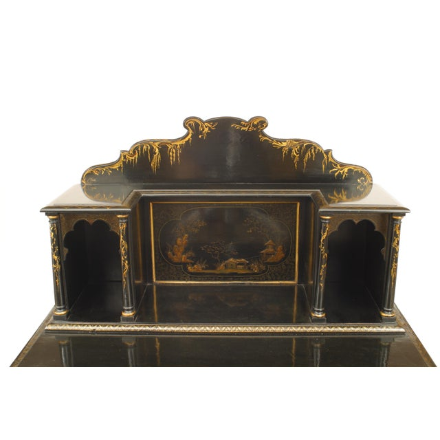 Paint Regency Lacquered Chinoiserie Sideboard For Sale - Image 7 of 8