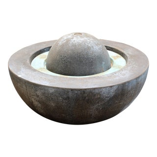 Large Round Bronze Outdoor Electric Reservoir Water Fountain For Sale