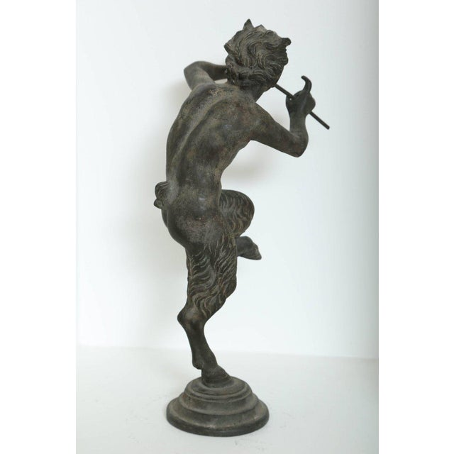 Rare Antique Bronze Sculpture of Pan the Mythological God For Sale - Image 4 of 9