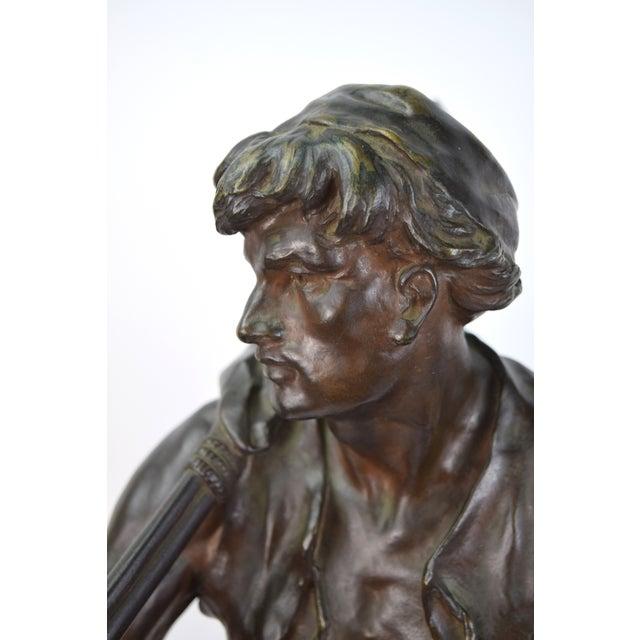 """The Whaler"" Antique Emile Louis Picault French Bronze Sculpture For Sale - Image 4 of 9"