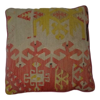 Vintage Handmade Square Turkish Pillow For Sale