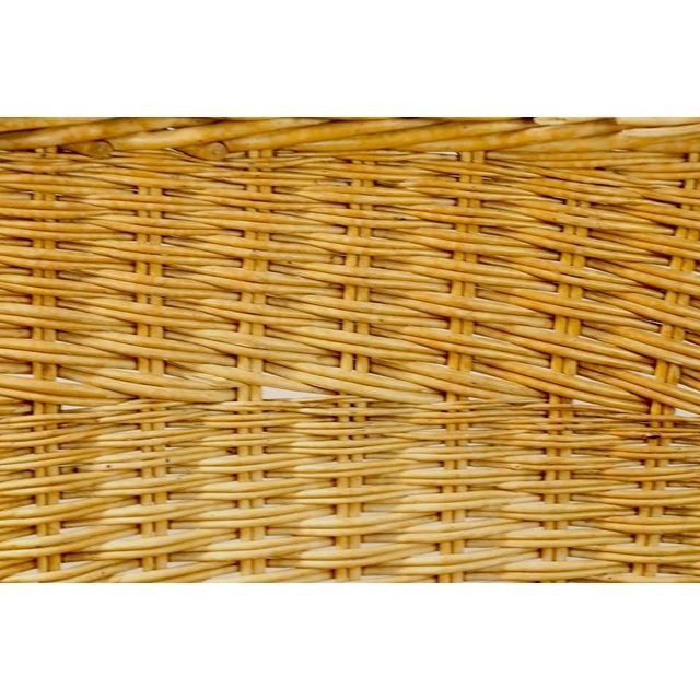 Wicker Mod Bar Harbor Style Woven Wicker Settee For Sale - Image 7 of 13
