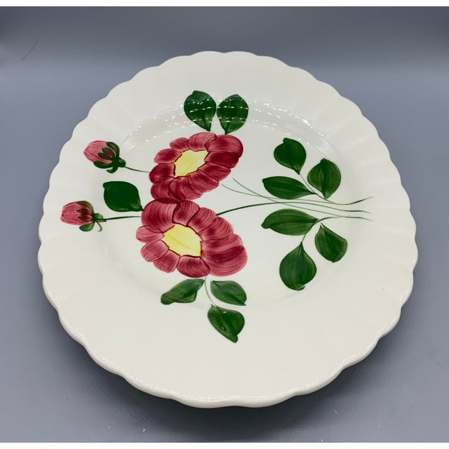 Blue Ridge Southern Pottery Mirror Image Platter For Sale In Los Angeles - Image 6 of 10