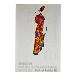 Vintage 1977 Weyman Lew Swoon Gallery Poster on Board For Sale