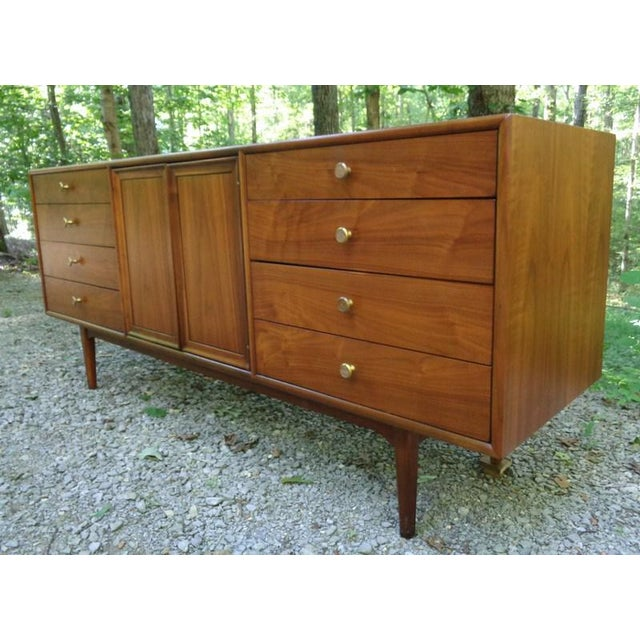 Kipp Stewart For Drexel Declaration Walnut Credenza Long Chest - Image 4 of 11